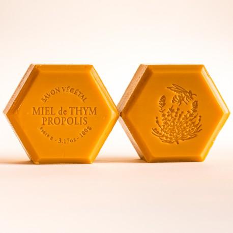 Savon miel et propolis : parfum naturel verveine 100g