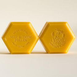 Savon miel et pollen : parfum naturel chèvrefeuille 100g