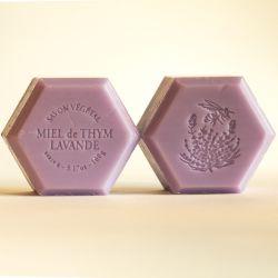 Savon miel et lavande : parfum naturel lavande 100g