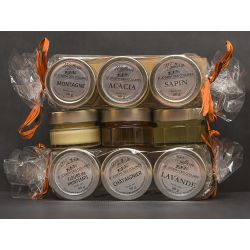 Coffret découverte 5 pots de miel assortis (photo non contractuelle)