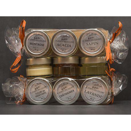 Coffret découverte 5 pots de miel assortis (photo non contractuelle)