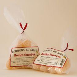 Bonbons boules fourrées au miel