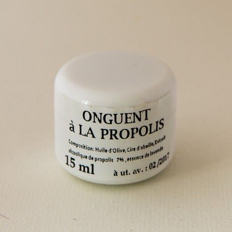 Onguent à la propolis: 3 contenants au choix: 15ml- 30ml ou 50ml